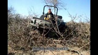 MUDD-OX 8X8 WITH ADAIR ARGO TRACKS BRUSH PILE.avi