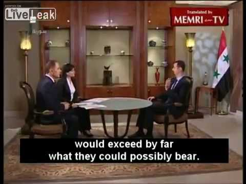 Syrian President Bashar Al-Assad to U.S. President Obama_ Your Words Are Worthless (ENG) Subtitles