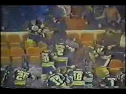 1979 bruins invade MSG stands Video