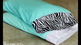 How to Make a Simple Pillowcase with Trim