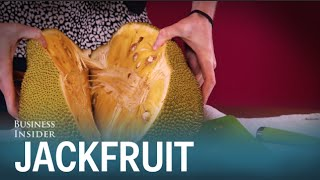 We tried jackfruit — the huge tree fruit that supposedly tastes like pulled pork