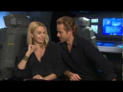 Charlize Theron & Guy Pearce talk 'Prometheus' - Celebs.com