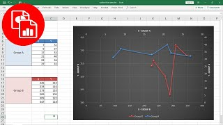 Plot Two Sets of Data on an X Y Scatter Chart