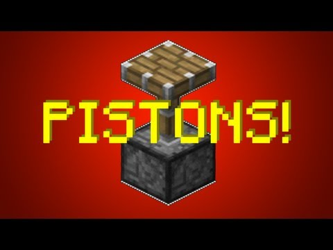Minecraft 1.8: Piston Castle Gate Tutorial (Portcullis)