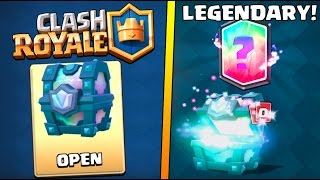 LEGENDARY CHEST OPENING :: Clash Royale :: 100% LEGENDARY CARD CHEST!