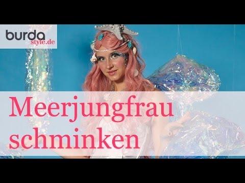 burda style tutorial meerjungfrau schminken youtube. Black Bedroom Furniture Sets. Home Design Ideas