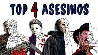 TOP ASESINOS DE CINE | Draw My Life 🔪 Freddy Krueger vs Jason vs Michael Myers vs Leatherface