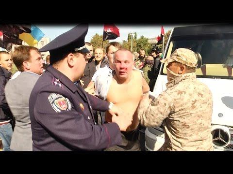 Избиение Нестора Шуфрича в Одессе 30.09.2014 \ Beating of Nestor Shufrych in Odessa 30.09.2014