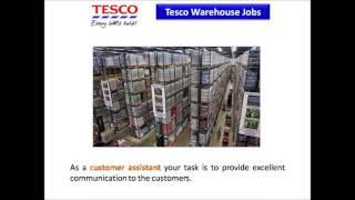 Tesco Warehouse Jobs
