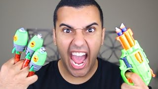EXPERIMENT!! EXTREME NERF / ZING GLASS BREAKERS!! (MOST DANGEROUS TOYS ) *DESTROYS CAR WINDOW*