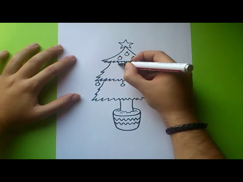 Como dibujar un arbol de navidad paso a paso 2 | How to draw a Christmas tree 2