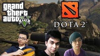 GTA 5 ONLINE NGAKAK ABIS! (1) - Maen Bareng Kru DOTA 2 RUSUH BGT KK! HAHAH! (GTA 5 PC Momen Konyol)