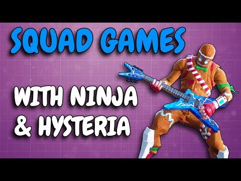 SQUAD GAME w/ NINJA & HYSTERIA | #1 & #2 in kills on PC playing together!!!!