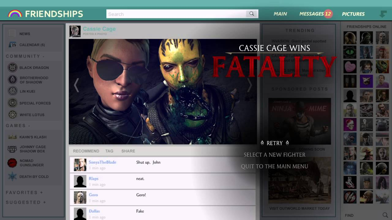 Cassie Cage Quotes Cassie Cage Selfie Fatality