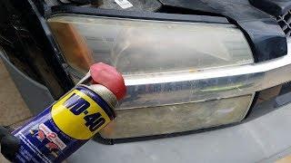 WD 40 VS Headlights | Headlight Cleaner