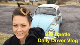 Driving a VW Beetle Daily- Vlog Custom T-Shirts and Work At Hauk Designs