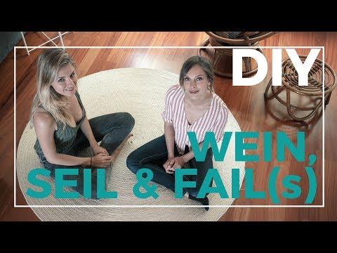 3 DIYs mit Seil im Beach Style | Viel Wein, viel Seil und viel Fail...