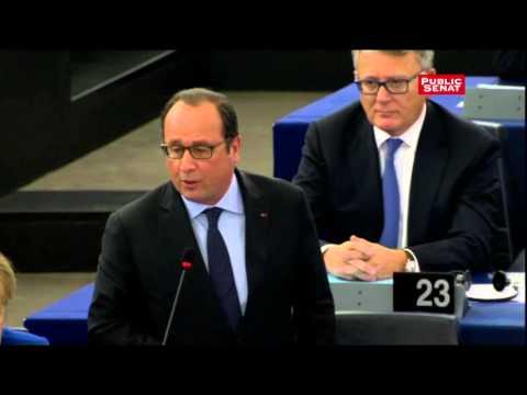François Hollande répond à Marine Le Pen au Parlement européen
