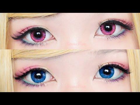 [review]geo eyescream vanilla brown x rayray gray lenses