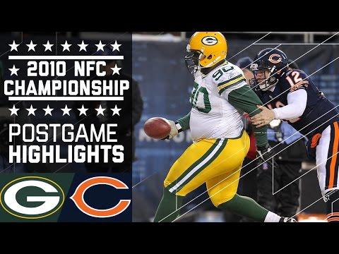 Packers vs. Bears 2010 NFC Championship   Game Highlights   NFL
