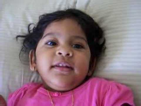 Prerana Saying Chitti Chilakamma Rhyme video