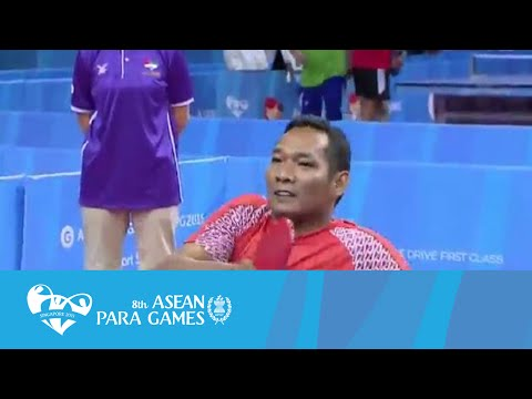 Table Tennis Men's Singles SM3 Indonesia vs Brunei (Day 4 afternoon) | 8th ASEAN Para Games 2015