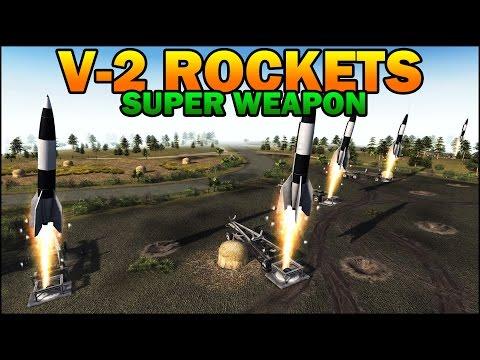 Men of War Assault Squad 2 - V-2 ROCKETS - SUPER WEAPON vs MASSIVE ARMY - Editor Scenario #65