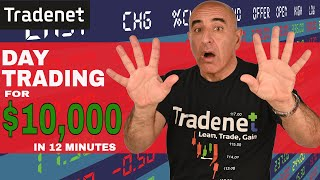 Live Day Trading for $10,000 in 12 Minutes - Meir Barak
