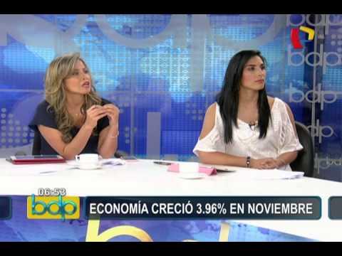 Economía peruana creció 3.96% en noviembre