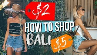 How To Shop In BALI + HAGGLING TIPS AND TRICKS