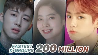 [TOP 35] FASTEST KPOP GROUPS VIDEOS TO REACH 200M VIEWS
