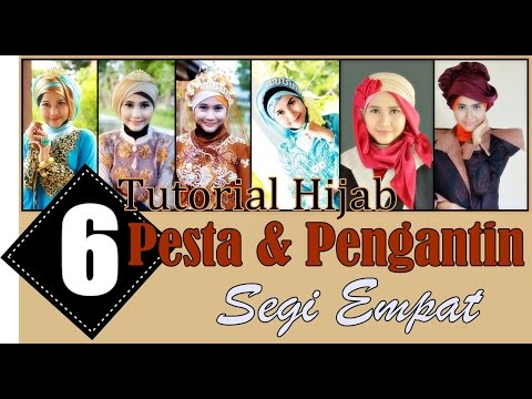 6 Simple Hijab Tutorials For Wedding and Party