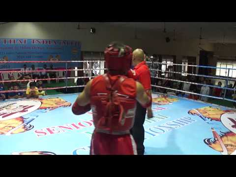 Mizoram (blue) Vs Andra Pradesh Red) 14th Mti Senior National Muaythai Championship 2013 video