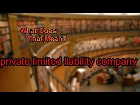 What does private limited liability company mean?