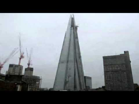 How the Shard appeared on London's skyline - time lapse film