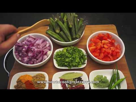 Curry – Bhindi Fry Recipe – Indian Okra Ladies Fingers Spicy Vegan cooking