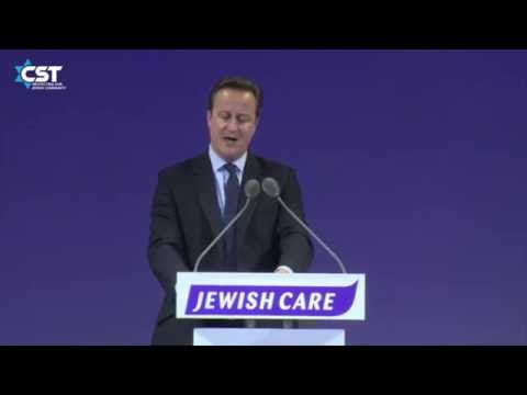 Prime Minister David Cameron pledges to continue financial support for CST at Jewish Care dinner