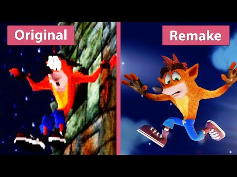 Crash Bandicoot – Original (1996) vs. N. Sane Trilogy  (2017) Remake PS4 Pro Graphics Comparison