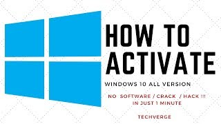 Windows 10 all versions activation for free without software and crack. Simple and permanent [2018]