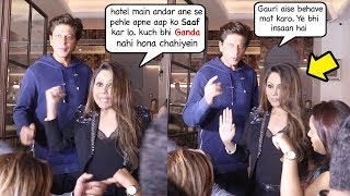 Shah Rukh Khan's Wife Gauri Khan shows sh0cking ATTITUDE to Media at launch of New restaurant
