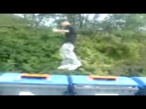 Jumping On Dumpsters *epic fail*