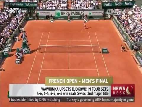 Stan Wawrinka wins title of men's singles at French Open