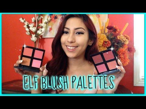 ELF Studio Blush Palettes Review + Swatches!   minaakitty
