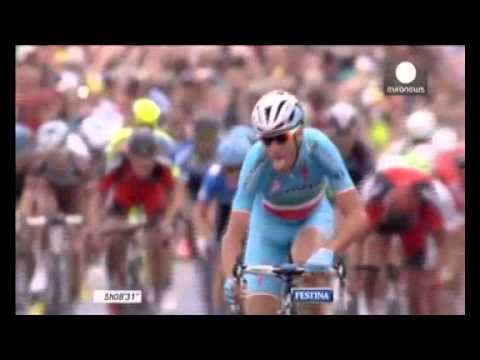 Tour de France: Vincenzo Nibali wins stage two