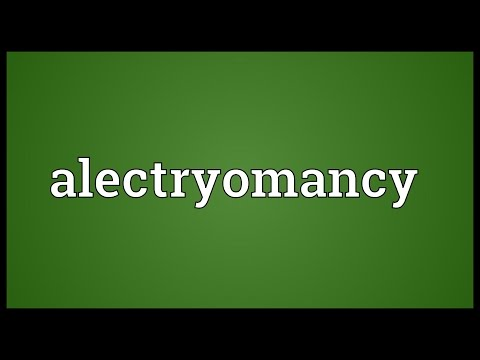 Header of alectryomancy