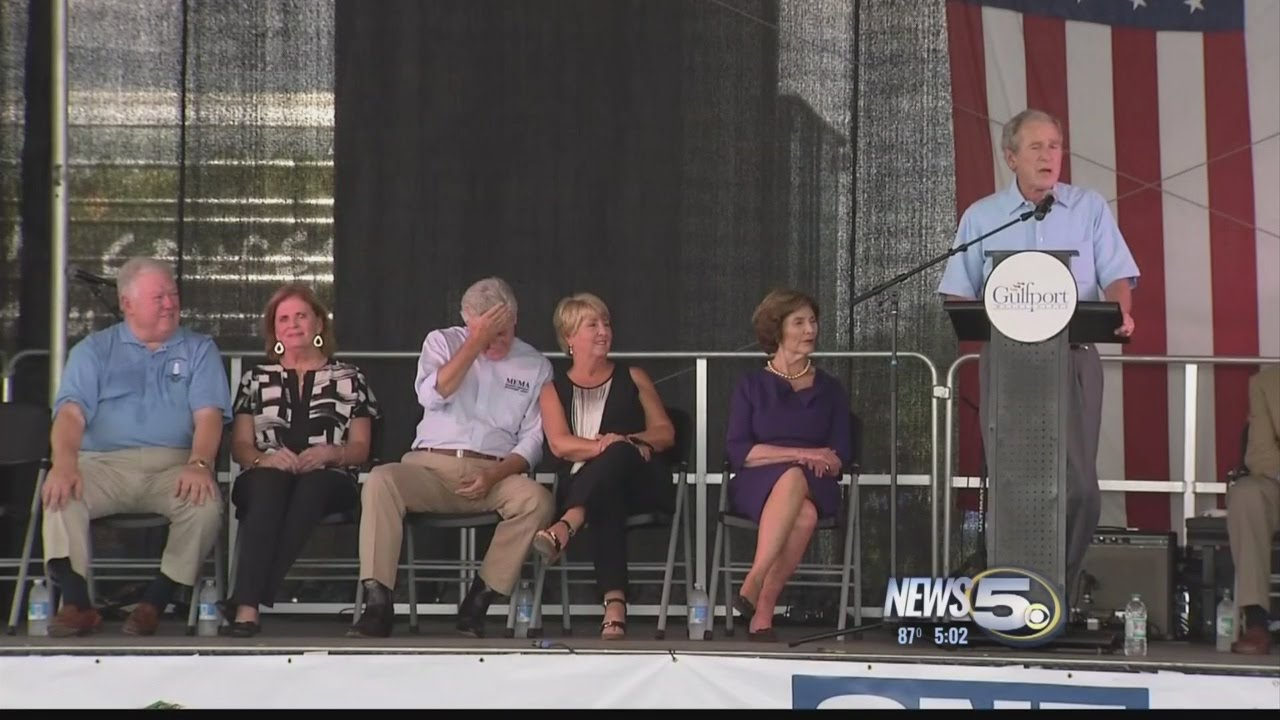 President George W. Bush in Gulfport for Katrina 10th Anniversary
