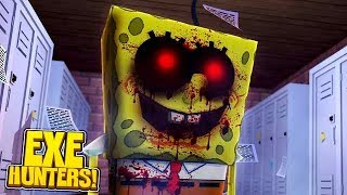 EXE HUNTERS #2 - SPONGEBOB.EXE IS TERRIFYING THE SCHOOL w/TinyTurtle