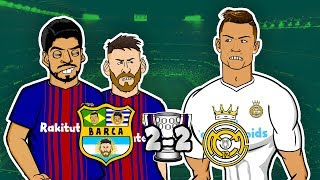 Barcelona 2 – 2 Real Madrid ► 📺 GOGGLE IN THE BOX 📺 442oons ft. Ronaldo, Messi, & Neymar!