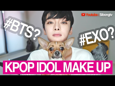 KPOP IDOL MAKE UP Challenge // EXO 엑소 시우민 메이크업