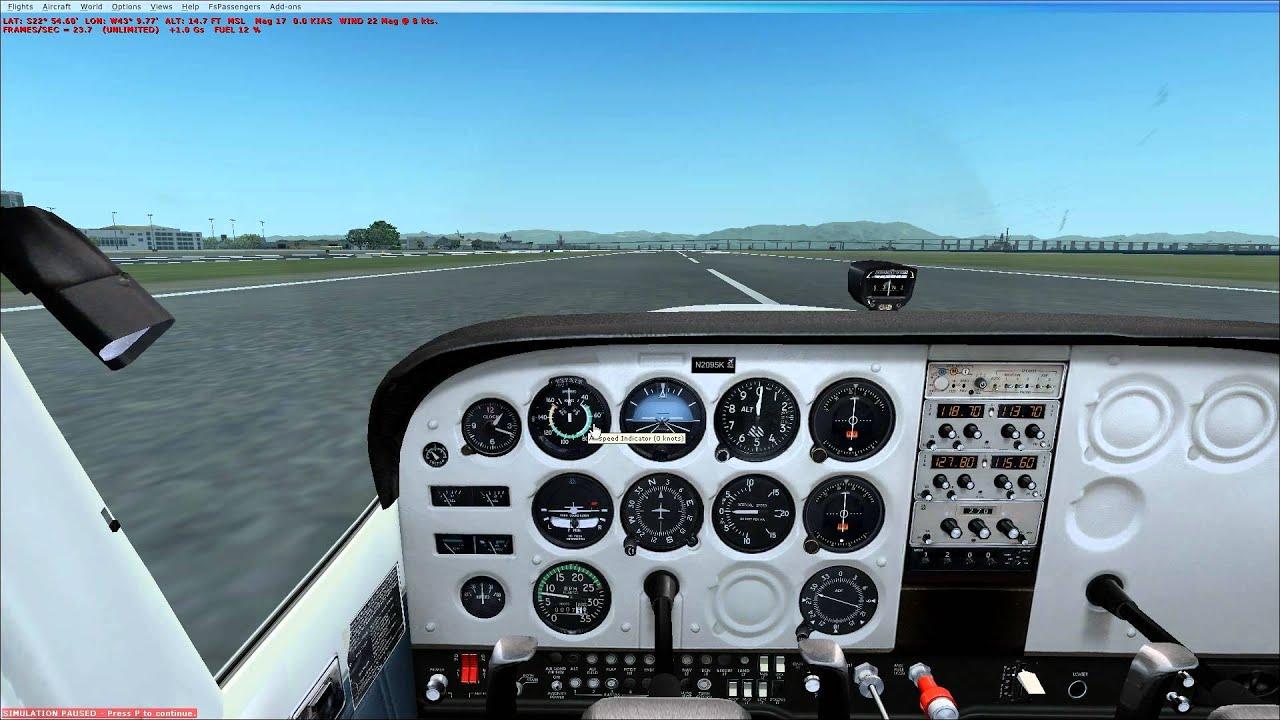 Carenado Cessna Pouso Cessna 172 Carenado